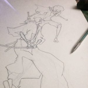 Geoff Pascual - Samurai Champloo - Rough Draft