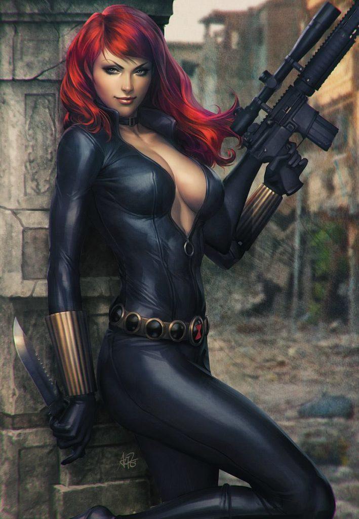 Artgerm - Black Widow